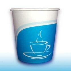 Blue Creative Printed Paper Cup, Capacity: 250 ML, Packet Size: 80 Pieces