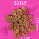 Applique Flower Pattern Gold Zari Work Patch