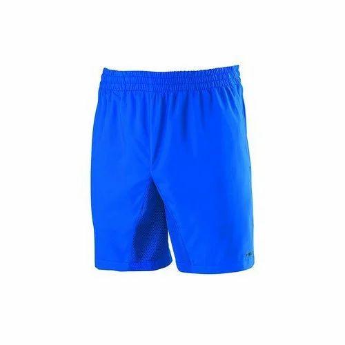 e86a65091797 Blue Polyester Mens Sports Shorts