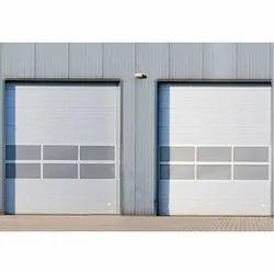 Mild Steel White Industrial Section Door, Powder Coated