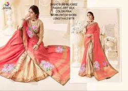 Rachna Art Silk Patch C-Buri Silk Catalog Saree For Women 2