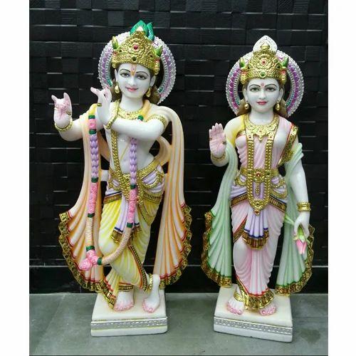 Shubh Laxmi Moorti Art Marble God Radha Krishna Moorti Rs