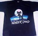 Alice In Wonderland Hand Made Painting T Shirt