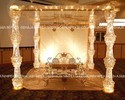 Golden New Crystal Wedding Mandap