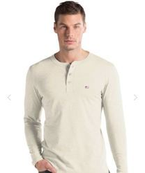 Cream Melange Long Sleeve T Shirt