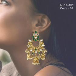 Indian Wedding Kundan Traditional Earrings