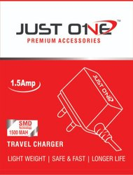 Just One 1.5 Amp Charger with V8 Cable Travel Charger