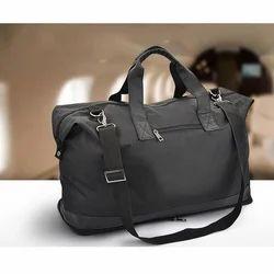 Black Folding Leather Travel Bag