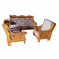 Rectangular Teak Wooden Sofa Set, For Home, Size/Dimension: 35 Inch Height
