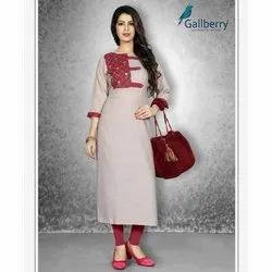 Ladies Embroidery Rayon Kurti