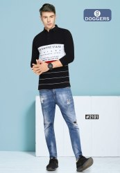 Men's Polo  Full Sleeve's Printed T-Shirts