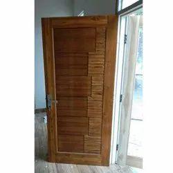 Exterior Stylish Trendy Teak Wood Door, For Home