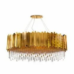 Candle-Style LED Designer Glass Chandeliers, Model Name/Number: 278