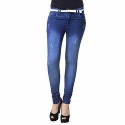 Women Blue Ladies Jeans, Waist Size: 34