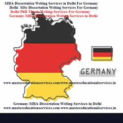 Germany MBA Thesis Writing Services in India