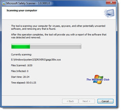 Removal of Adware and Spyware