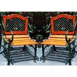Paint Coated Cast Iron Garden Chair