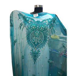674487c8f834c2 Unstitched Net Embroidered Beaded Lace Blouse, Size: 1.5 meter
