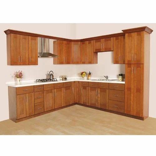 L Wooden Modular Kitchen Manufacturer: L Shape Modular Kitchen