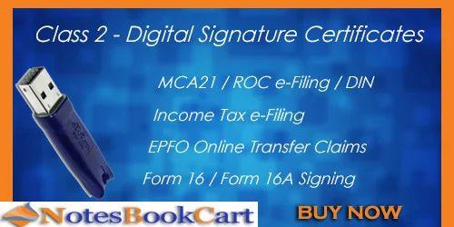 Class 2 DSC Digital Signature Certificate Individual in Baba