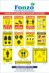Covid 19 Guidelines Poster Stickers