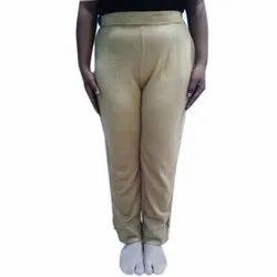 ADS Players Regular Wear Ladies Beige Woolen Pant, Size: S To XL