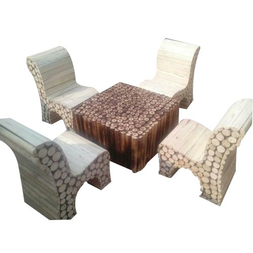Swell 4 Seater Wooden Log Furniture Dailytribune Chair Design For Home Dailytribuneorg