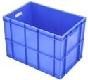 Blue/orange/yellow/black Industrial Plastic Crates, Capacity: 99 Ltr