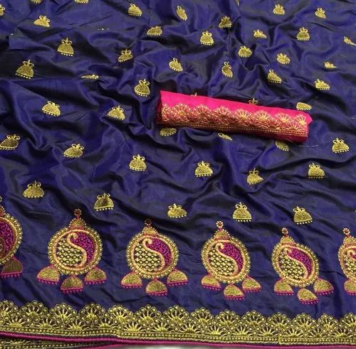93a6fa55d9 Designer Party Wear Sana Silk Embroidery Work Saree (DT001) at Rs ...