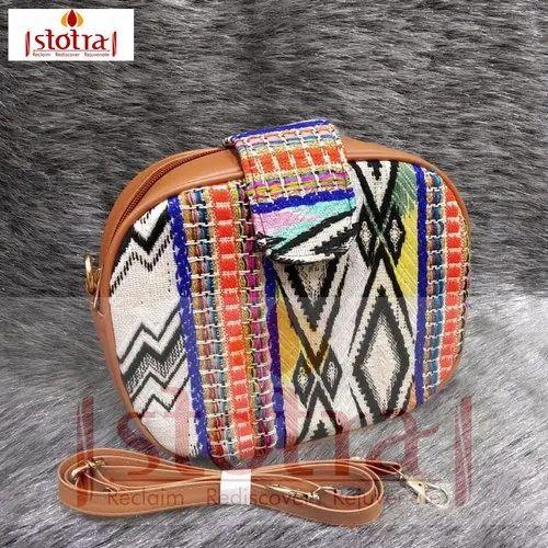 Handmade Jute & Leather Bag