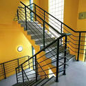 Black Mild Steel Staircase Railing