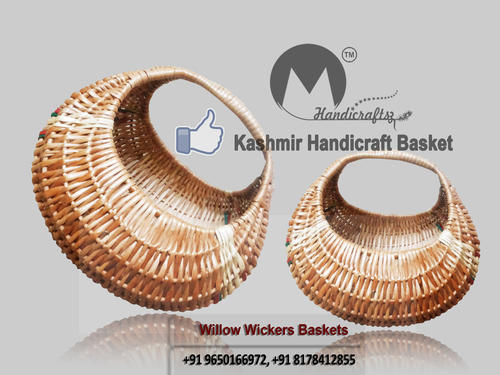 Om Handicraftsz Brown Kashmir Handicraft Mandir Basket Rs 110