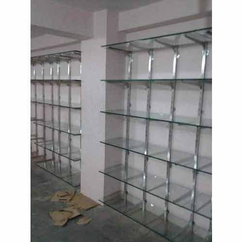 Transparent Showroom Glass Rack Rs 150 Square Feet