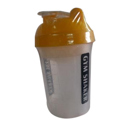 Grey And Yellow Plastic Gym Shaker, Capacity: Up To 750 Ml