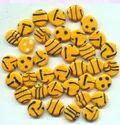 Yellow Zebra Mix Bead