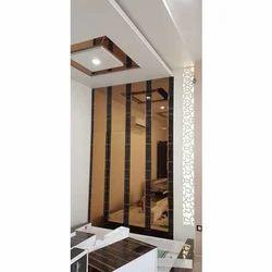 Modular Wooden Glass Door Almirah For Home