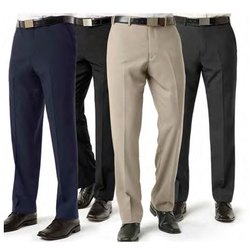 Poly Viscose Flat Trousers Mens Formal Plain Trouser, Machine wash