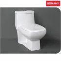 White Closed Front Somany Veneta - One Piece Wall Hung Toilets