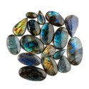 Natural Labradorite Plain Cabochon in Lot Assortment Loose Gemstone