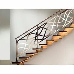 Galvanized Metal Designer Railing, Horizontal & Vertical: 40 X 40 X 1.2 & 19 X 19 X 1.0 mm
