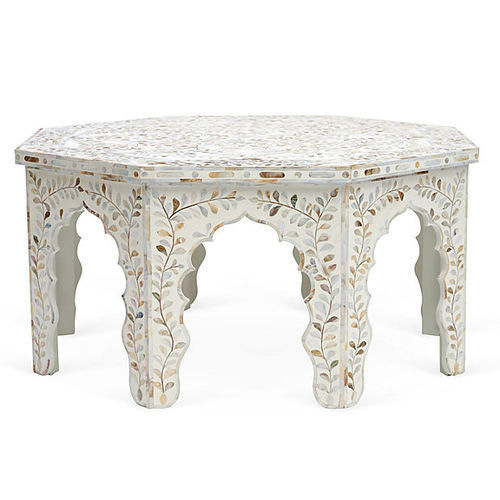 India Impression Wooden Bone Inlay Coffee Table