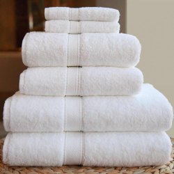 White Plain Hotel Bath Towel
