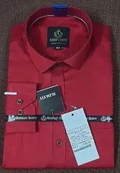 Riddley Scott Collar Neck Mens Cotton Twill Plain Shirt
