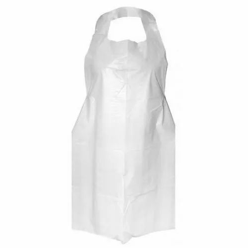 Plain PE Disposable Plastic Apron, For Safety & Protection, Size: Large