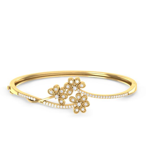 white diamond bangle classic micropave gold row one oval micropav bangles bracelet pav half de beers