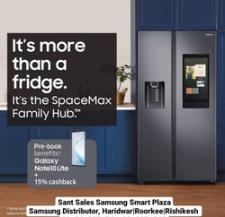 Samsung SpaceMax Family Hub Refrigerator, Side by Side