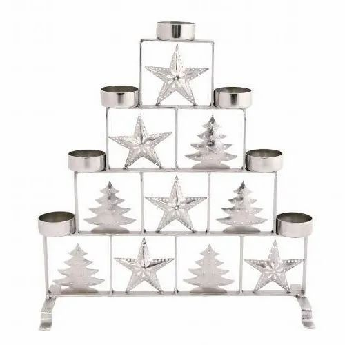 Deco Home Collection White, Silver Christmas Stand, Packaging Type: Box