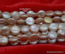 Coin Shape Freshwater Pearl Beads
