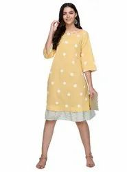 Embroidered Cotton Woman Style Dress