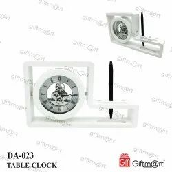 Giftmart Analog Table Clock, For Office, Size: 25 X 14.5 Cm